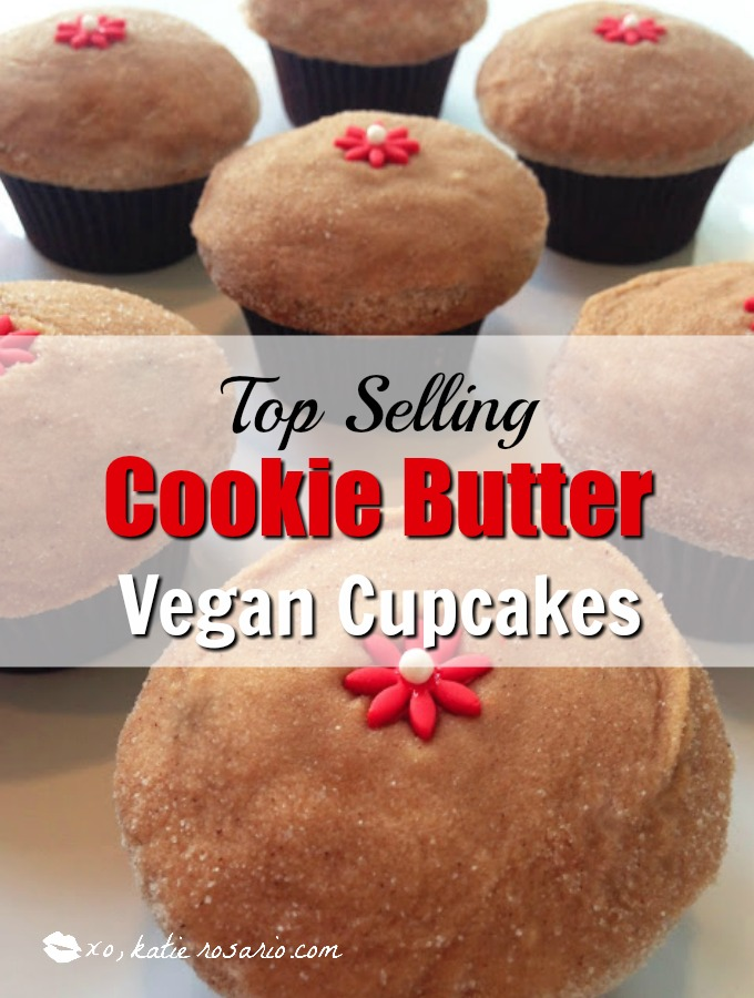 Top Selling Cookie Butter Vegan Cupcakes
