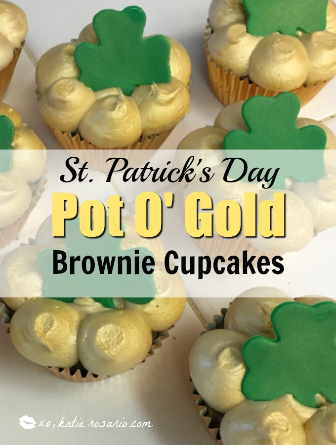 St. Patrick's Day Pot o' Gold Cupcakes