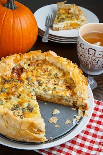 Caramelized onions and pumpkin quiche. 9 Salty & Savory Pumpkin Recipes that aren't Desserts: Fall is here and pumpkin is everywhere! I love it! I always forget that you can cook dishes with pumpkin that aren't desserts or overly sweet. Making pumpkin the star of the dinner is so fast and easy. I like the tip to use pumpkin puree and mix it into an Alfredo sauce then making a delicious pizza. And OMG! Make mac and cheese with pumpkin it's the boom! Must try!
