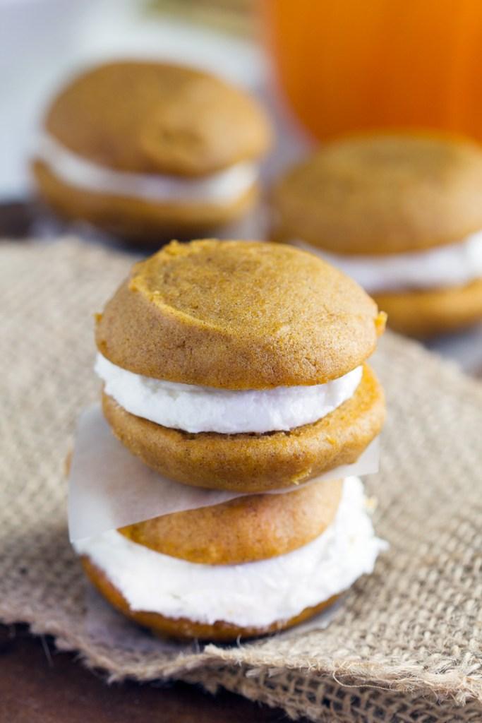Pumpkin whoopie pies learn how to make this pumpkin dessert this fall