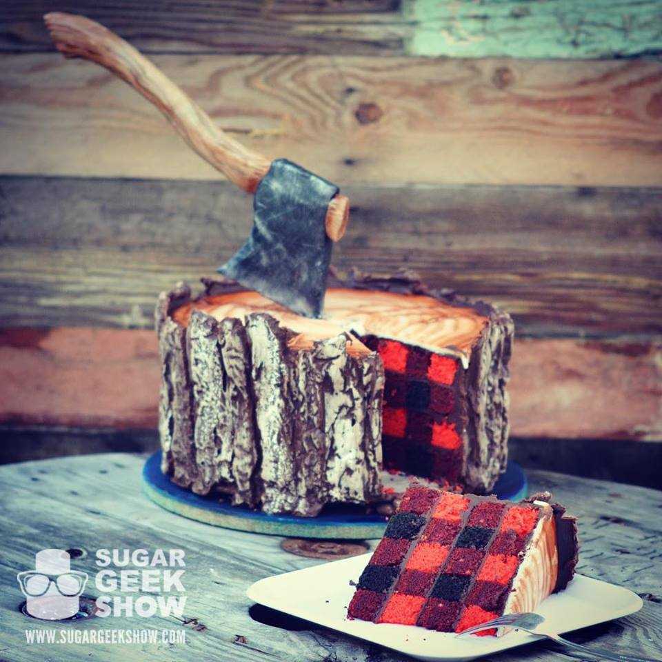 Lumberjack fall plaid cake for beginner cake decorators and bakers. 14 Amazing Fall Cakes That Look Almost Too Beautiful to Eat: Sweater weather is not complete without cake!!! Nothing is more beautiful and comforting than fall cakes! This guide is so so perfect for beginner bakers and newbie cake decorators. Pumpkin spice and apple pie in cakes in amazing! I love the fall rich colors! These cakes look too beautiful to eat but hey I'll be eating them! Definitely pinning for later!