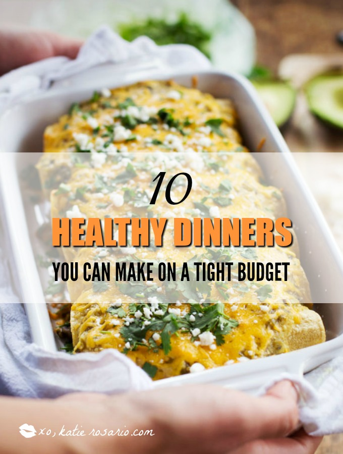 10 Healthy Dinners You Can Make on a Tight Budget: The New Year is here and my biggest worry is having to stay on budget and I realized that I spend a lot on food. But not very good food I might add. Now I love cooking so this post is really exciting for me because I can cook healthy food on a budget. How cool is that! It doesn't take much money to make delicious food over and over again that might help me lose weight! I am so excited now for making easy healthy dinners on a budget! Pinning later for shopping day!