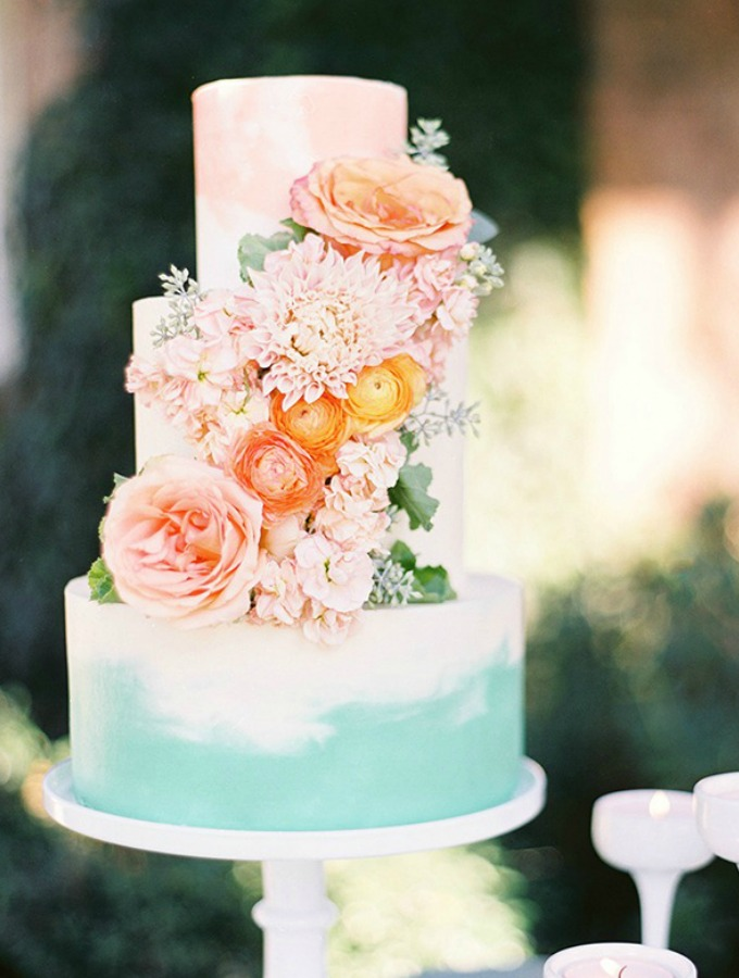 Spring Floral Wedding Cake Ideas