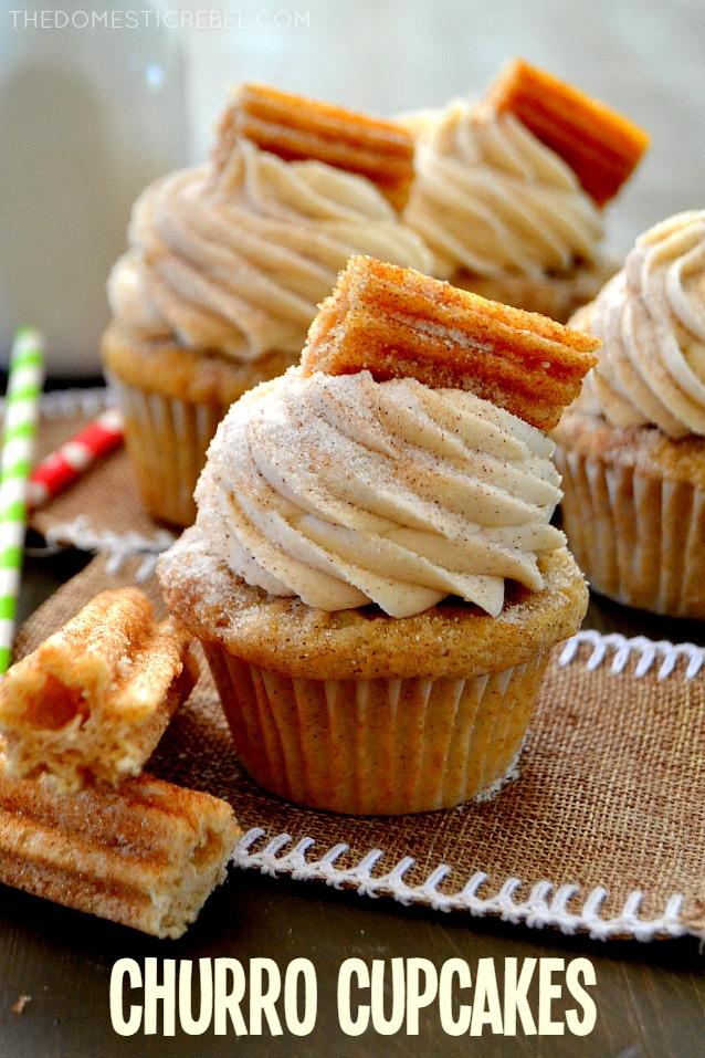 Churro Cupcakes Favorite Desserts