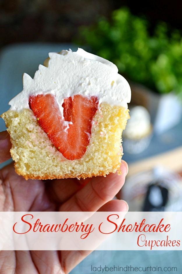 Strawberry Shortcake Cupcakes Favorite Desserts