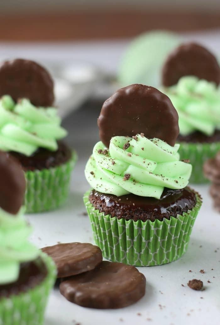 Thin Mint Cupcakes Favorite Desserts