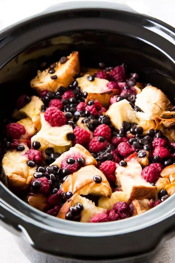 CHocolare Raspberry French Toast | Slow Cooker Dessert Recipes