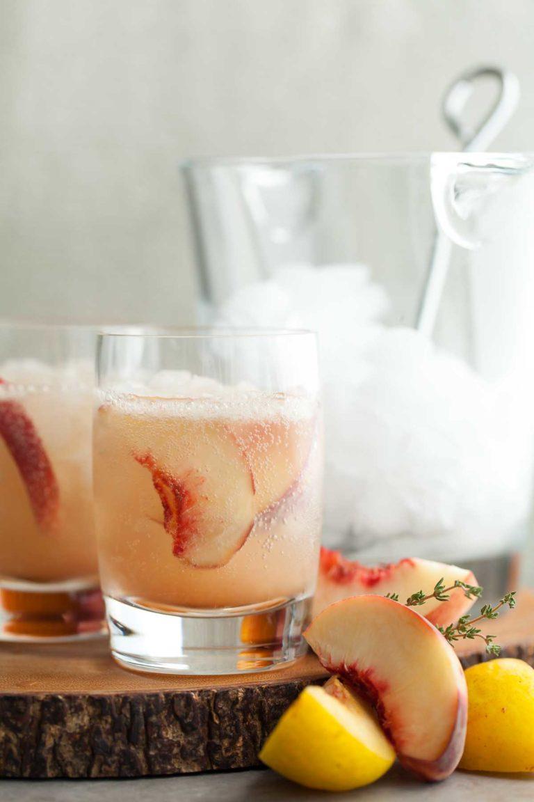Stone Fruit Thyme Shrub Soda | Mocktails Non-Alcoholic Drinks