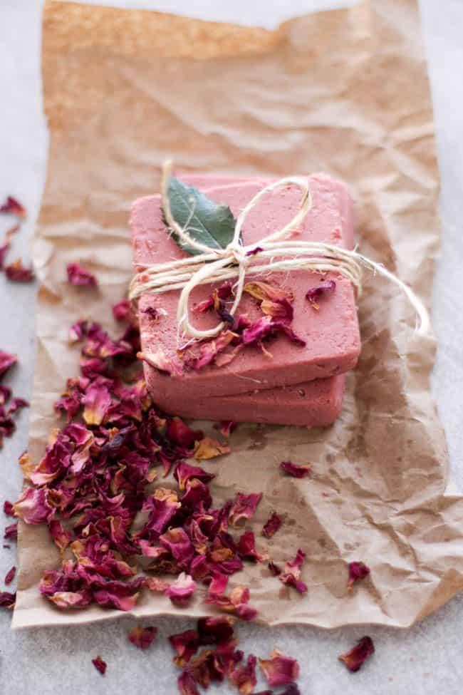 Rosewater Pink Clay Soap | Homemade Soap Recipes @ xokatierosario.com