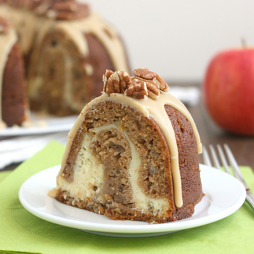 Apple Cream Cheese Bundt Cake   Bundt cakes are simple cakes that are perfect for any beginner baker. They come out beautiful every time. The bundt cake pan was originally designed for a thick, dense cake batter like a pound cake. These bundt cakes are foolproof recipes that are super impressive and taste delicious! So let's get started, here are 18 Bundt Cake Recipes That Anyone Can Make! #xokatierosario #easybundtcakerecipes #bundtcakesrecipes #bundtcakesdecorations