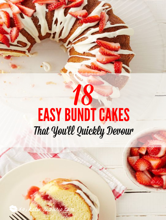 Bundt cakes are simple cakes that are perfect for any beginner baker. They come out beautiful every time. The bundt cake pan was originally designed for a thick, dense cake batter like a pound cake. These bundt cakes are foolproof recipes that are super impressive and taste delicious! So let's get started, here are 18 Bundt Cake Recipes That Anyone Can Make! #xokatierosario #easybundtcakerecipes #bundtcakesrecipes #bundtcakesdecorations