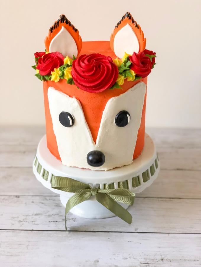 How to Make a Woodland Fox Cake