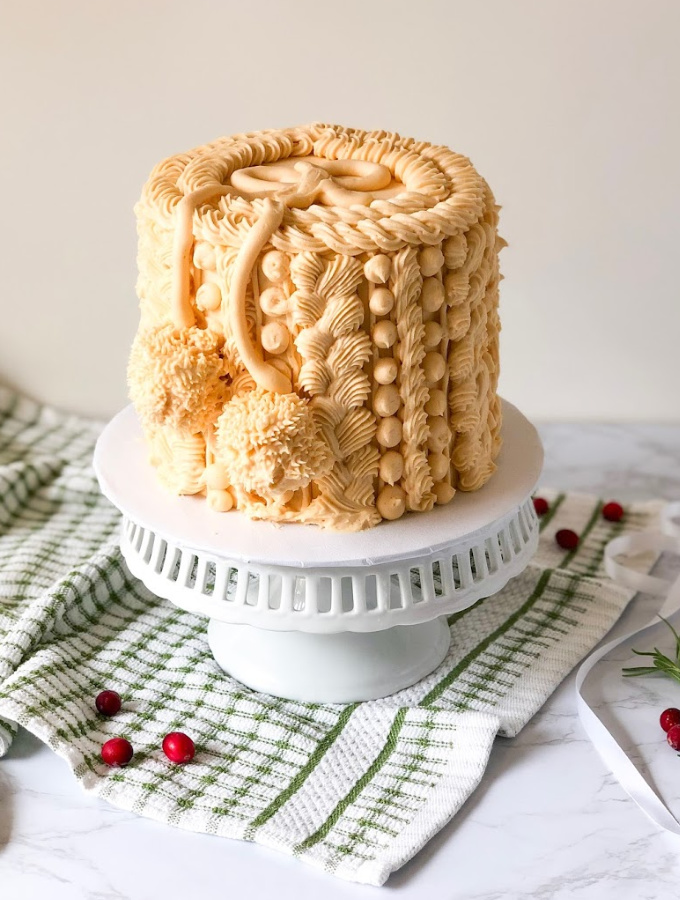 Cozy Sweater Weather Cake Tutorial for Home Bakers