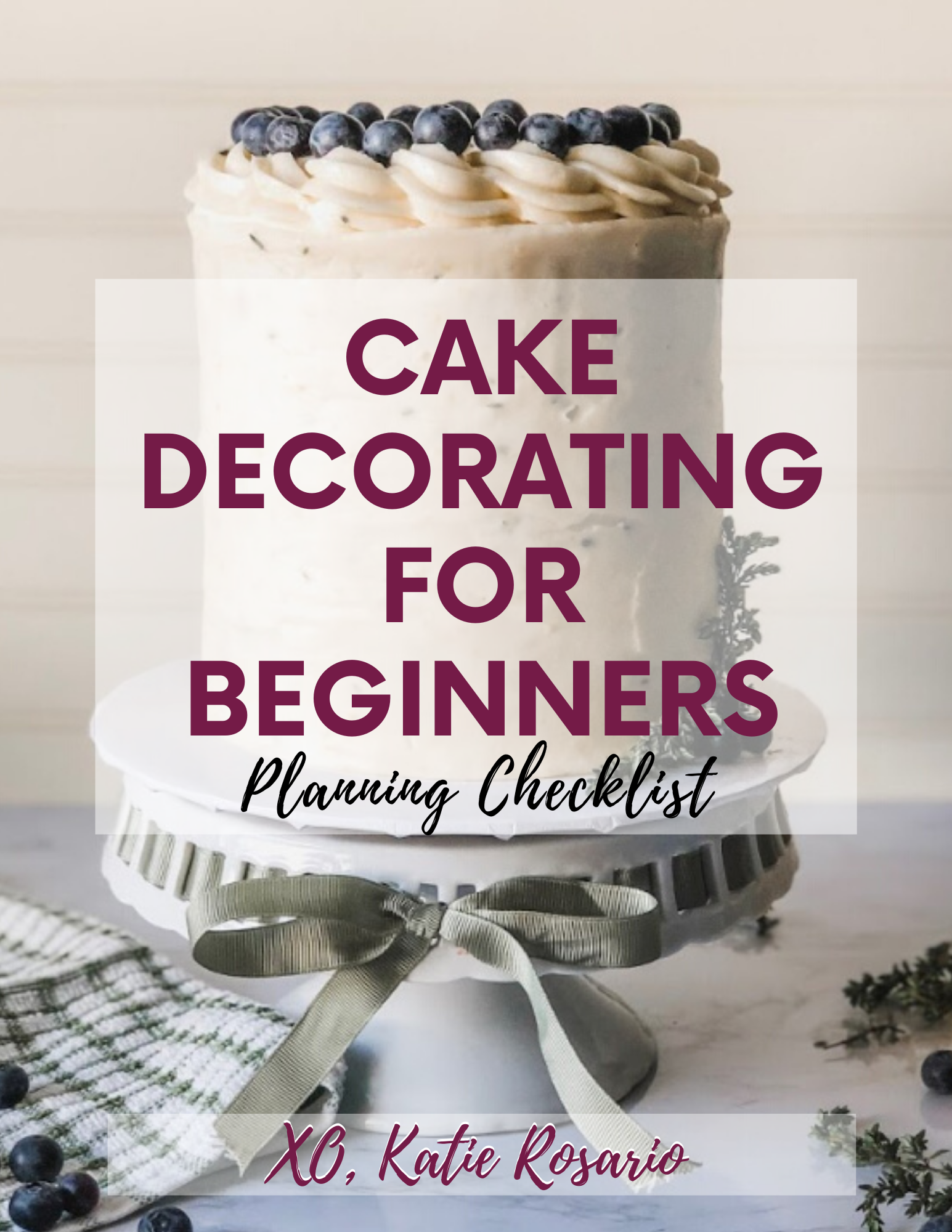 This is a general plan and checklist that you'll use every time you make a cake. Start with baking the cake and making the frosting even building and crumb coat the cakes.