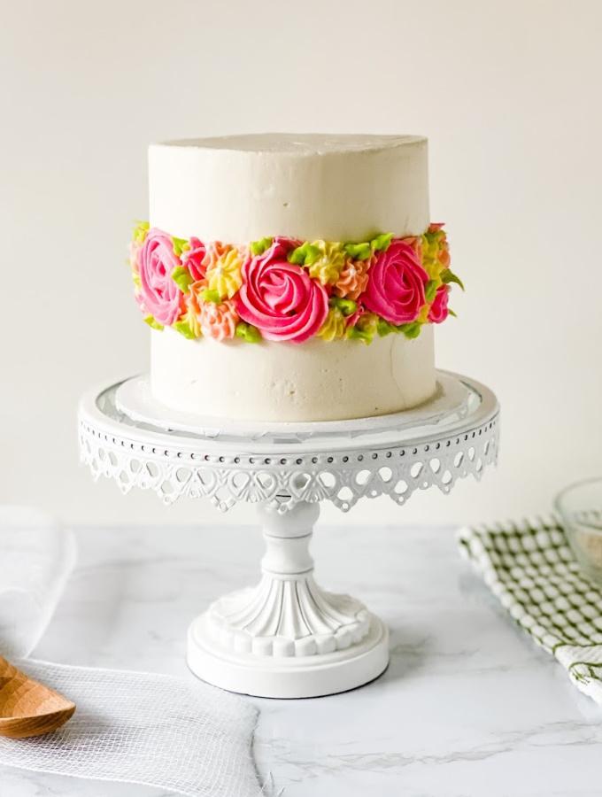 Spring Flower Fault Line Cake for Home Bakers