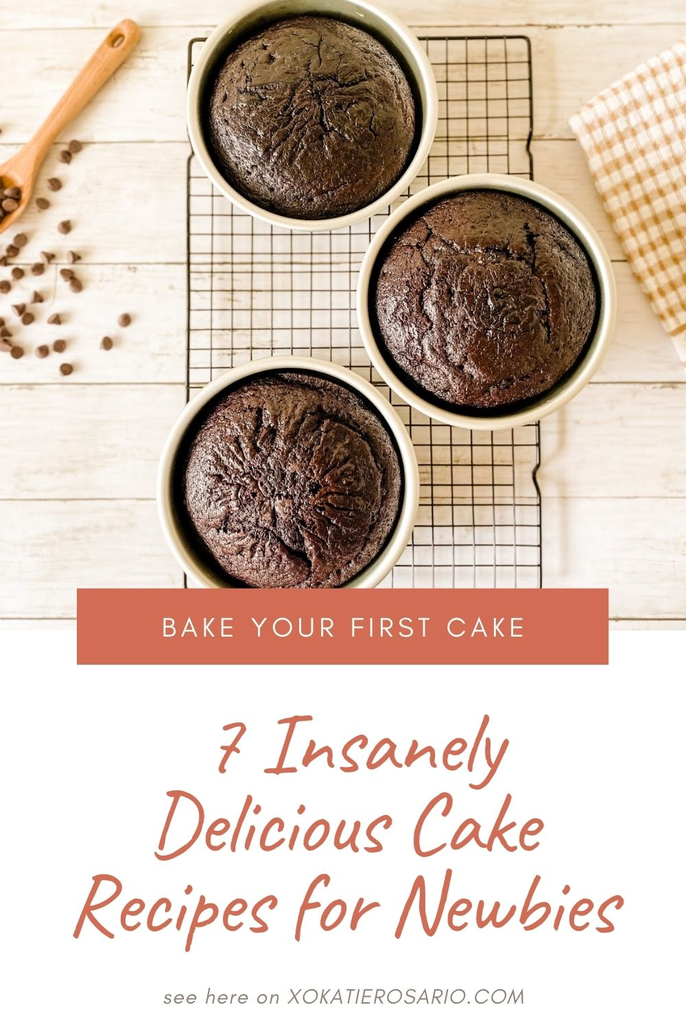 Ready to bake your first cake? These seven beginner-friendly cake recipes are insanely delicious. These light and fluffy cake recipes are perfect for beginners. Created by Katie Rosario, XOKatieRosario creates beautiful cake decorating techniques that are easy for beginners and strategically designed for any home baker. #xokatierosario #katierosaiocakes #lemoncake #buttermilkcake #cakerecipes #cakedecoratingcourse #homebakingcourse